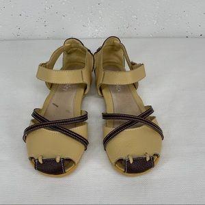 Bernie Mev size 39 Jibe Tan Brown Leather Sandals